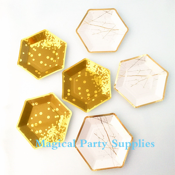 Free Shipping 80pcs Gold Foil Paper Plates (Small) 7inch Gold Modern Chic Party Paper  sc 1 st  AliExpress.com & Free Shipping 24pcs Small Gold Paper Plates Gold Foil 7 Inch ...