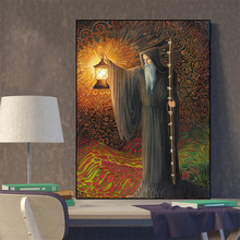 MUTU Hermit Tarot Picture Christmas Jesus Gifts Posters And Prints Canvas Painting Wall Art Poster For Living Room No Frame