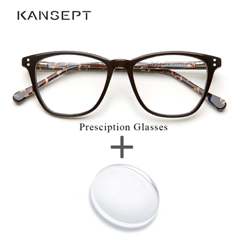 ba53c4ab78 Gafas graduadas de acetato de marca de diseñador Gafas de ordenador óptico  Vintage miopía Gafas transparentes de prescripción