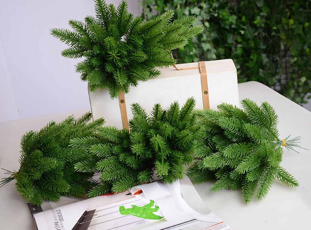 10 Buah Buatan Cabang Pinus Palsu Buatan Tanaman Bunga Pohon Natal Ornamen Pohon Natal Dekorasi