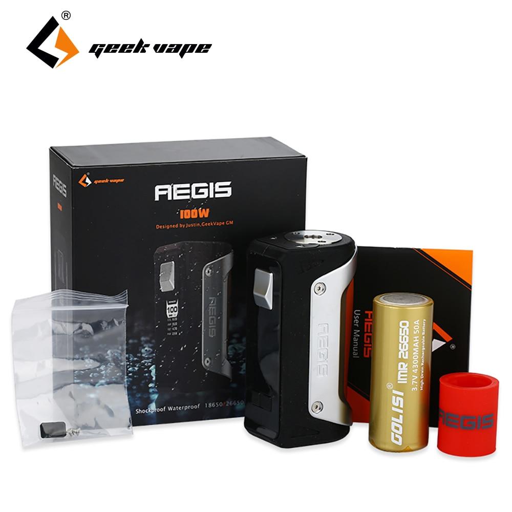 D'origine GeekVape Aegis 100 W TC Boîte MOD 4300 mAh avec 26650 Batterie Étanche anti-Poussière E-cig boîte De Vaping Mod VS L'égide Mini