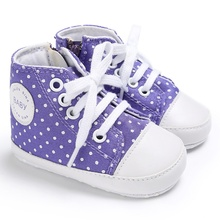 e8620da70d428b Toddler Baby Boy Girl Cute Canvas Lace-up Sneakers Non-slip Soft Fubu First