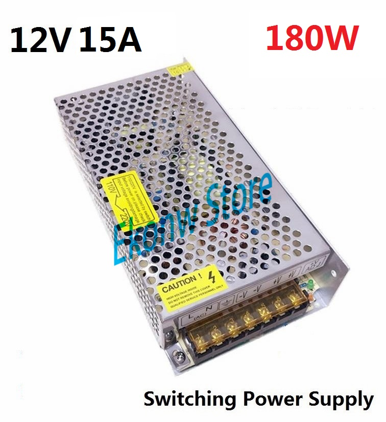 180W 12V 15A Switching Power Supply Factory Outlet SMPS Driver AC110-220V DC12V Transformer for LED Strip Light Module Display dc12v 20a 240w switching power supply dc12v lighting transformer led driver for led strip led bar light ac110 200v to dc12v