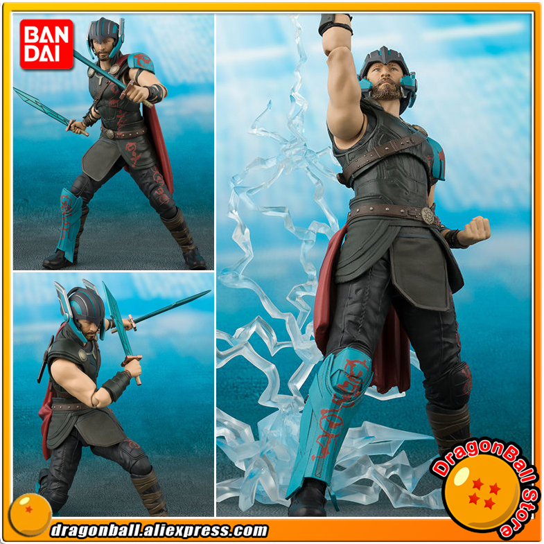 Anime Thor: Ragnarok Original BANDAI Tamashii Nations S.H. Figuarts / SHF Exclusive Action Figure - Thor & THUNDER EFFECT SET цена