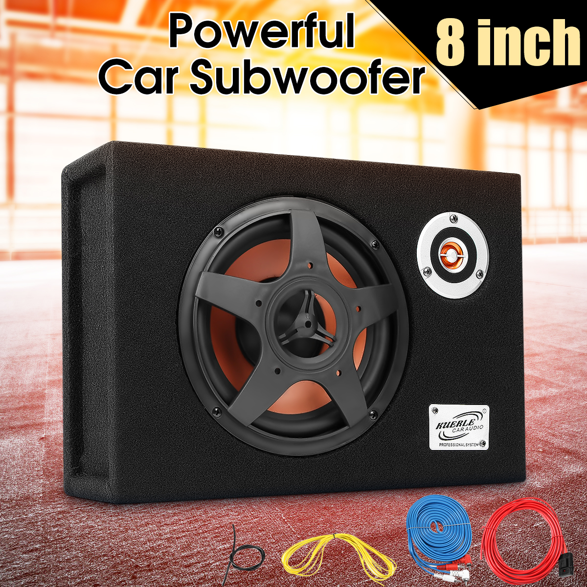 8 480w Car Subwoofer 12V Slim Under-Seat Speaker 21mm Car Audio Sub Woofe 8 inch Car High Power Amplifier Speaker Super Bass 12v high power 120w 8 inch 10 inch 12 inch subwoofer car core subwoofer amplifier board pure tone