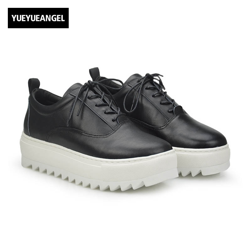 2017 England Style Autumn Punk Fashion Genuine Leather Cow Men Casual Shoes Male Thick Bottom Retro Chaussure Lace Up Plus Size 2017 england style men genuine leather cow new fashion lace up breathable casual shoes male vintage match color black coffee