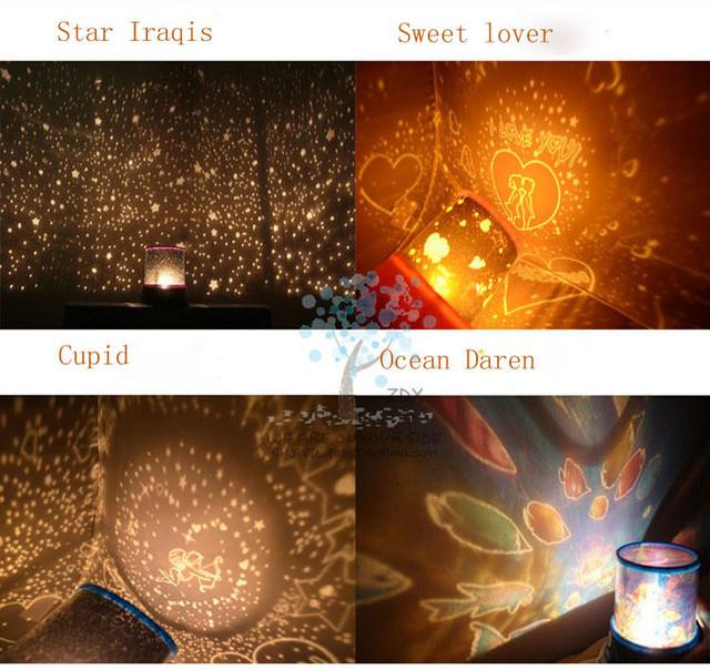 Autorotation com Música Estrela lâmpada Do Projetor, Mestre Luz Da Estrela LEVOU, piscar a luz da noite, para enviar As Crianças amigo presente de ano novo