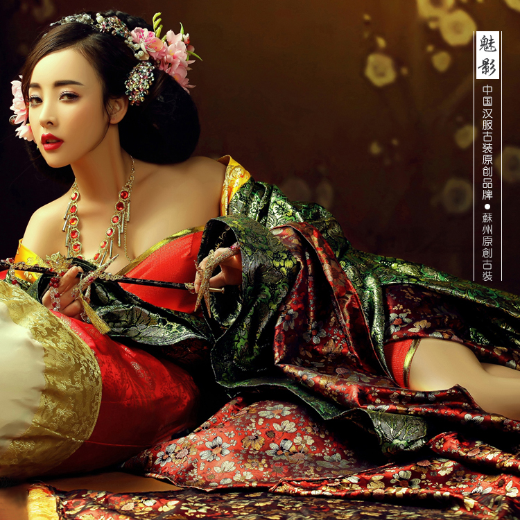 Mei Ying Gorgeous Elegant Princess Costume Tang Empress Hanfu Costume Beauty Women  Costume