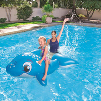 157 89cm Kids Inflatable The Whale Pool Floats Buoy Swimming Air Mattress Floating Island Toy Water