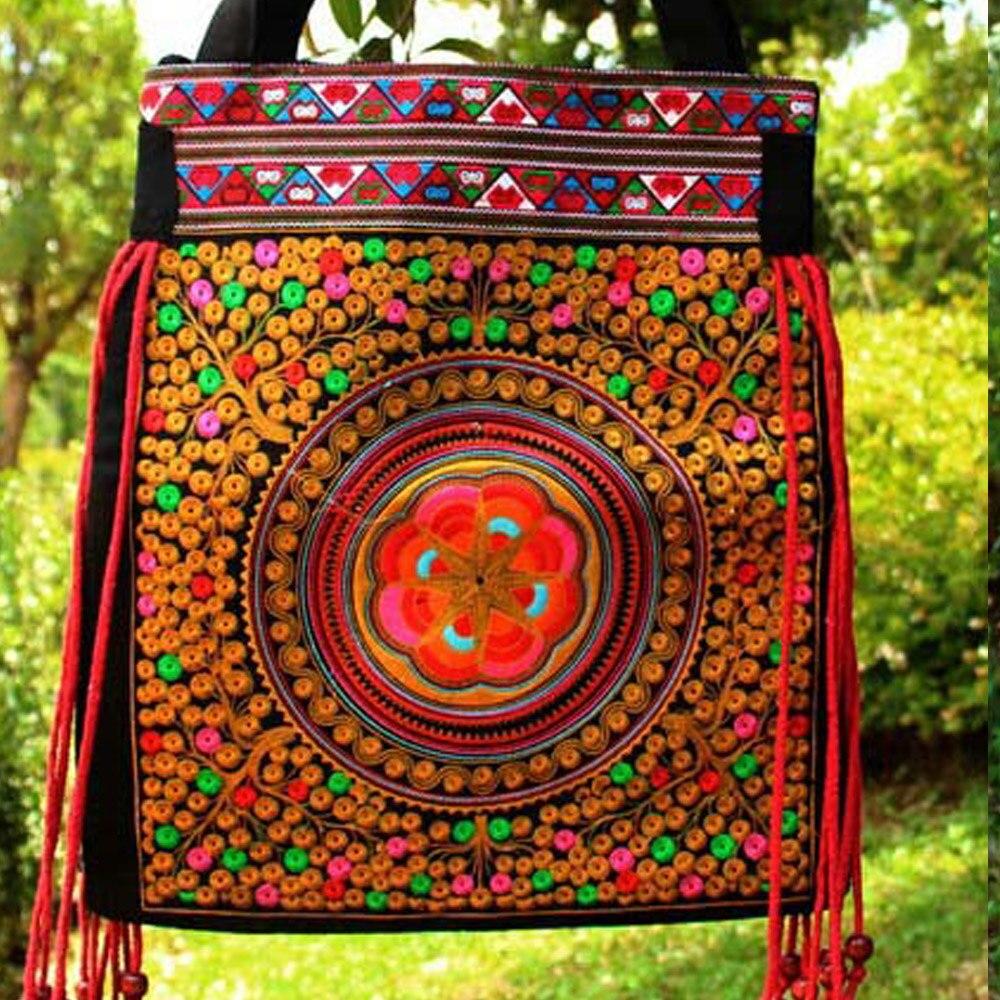 Tendenza Nazionale 4 Etnico Embroideried Clothshoulder Sac Borse Handmade Delle 3 Vintage Donne Fiore Bag 7 Crossbody 2 5 Borsa Di 1 Ricamo Signore 6 Y4nwPxRqX