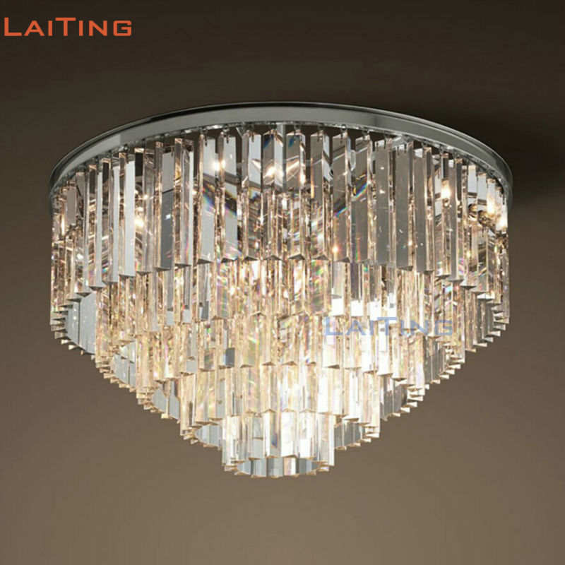 American Rustic Rectangle Crystal Chandelier Vintage Round Black Pendant Lamp For Dining Room Lt71083 In Lights From Lighting On