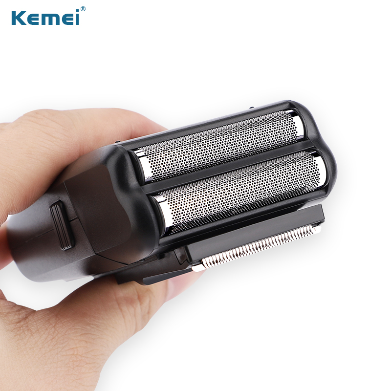 Image 2 - Kemei Rechargeable Two Blades electric Shaver Razor Men hair clipper hair Trimmer Beard shaving machine for men-in Electric Shavers from Home Appliances