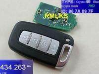 Rmlks carro inteligente chave remota para i30 i45 ix35 genesis equus veloster tucson sonata elantra veículo alarme 433 mhz id46 pcf7952 chip|key for|key key|key smart key -