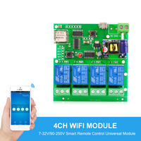 Sonoff Smart Automation Modules USB5V DC7 32V 220V Wifi Relay Module Jogging Self Locking Interlocking Remote