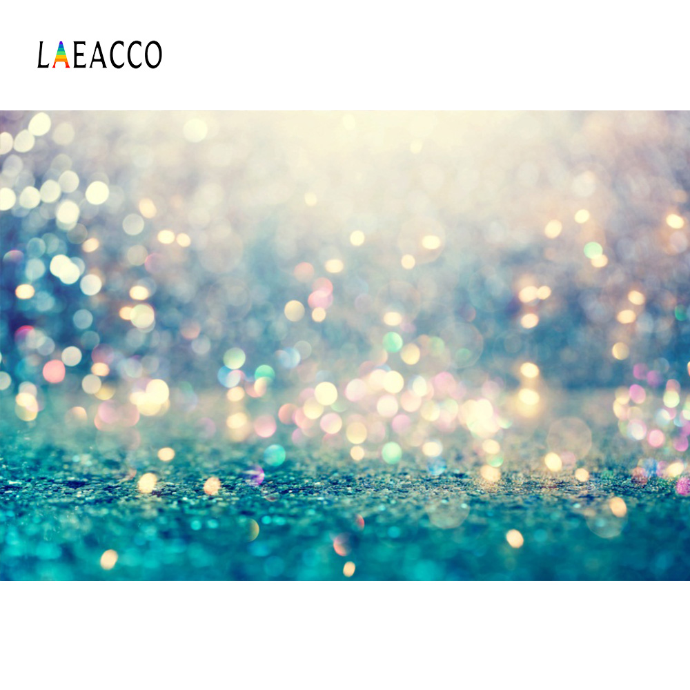 Laeacco Glitters Light Bokeh Portrait Baby Newborn Photo Backgrounds Customized  Digital Photography Backdrops For Photo Studio