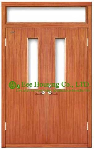 UL Certificated Commercial Fire Rated Wooden Doors, Timber Fire Rated Wooden Doors For Commercial Projects