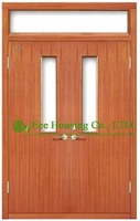 UL Certificated Commercial Fire Rated Wooden Doors Timber Fire Rated Wooden Doors For Commercial Projects