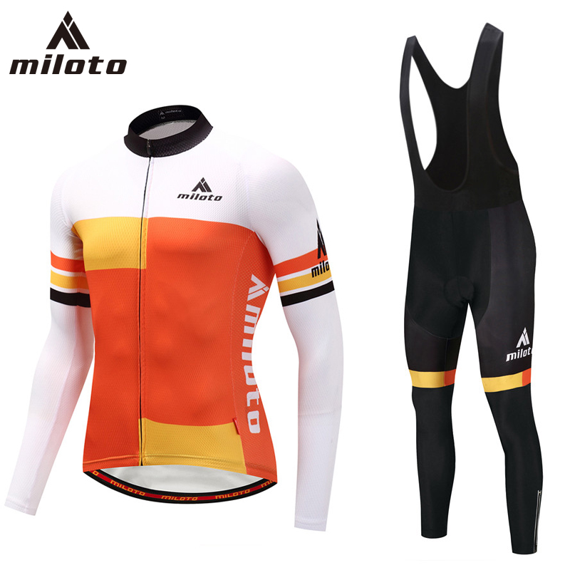 MILOTO Bike jersey Men Cycling clothing Male MTB Ropa Ciclismo Maillot Long Sleeve Bicycle Clothes riding Jersey Sets Quick-dry