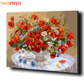 TwoSteps Passion Flower DIY Digital Canvas Oil Painting By Numbers Coloring By Numbers Modern Large Acrylic Paint By Number Kits