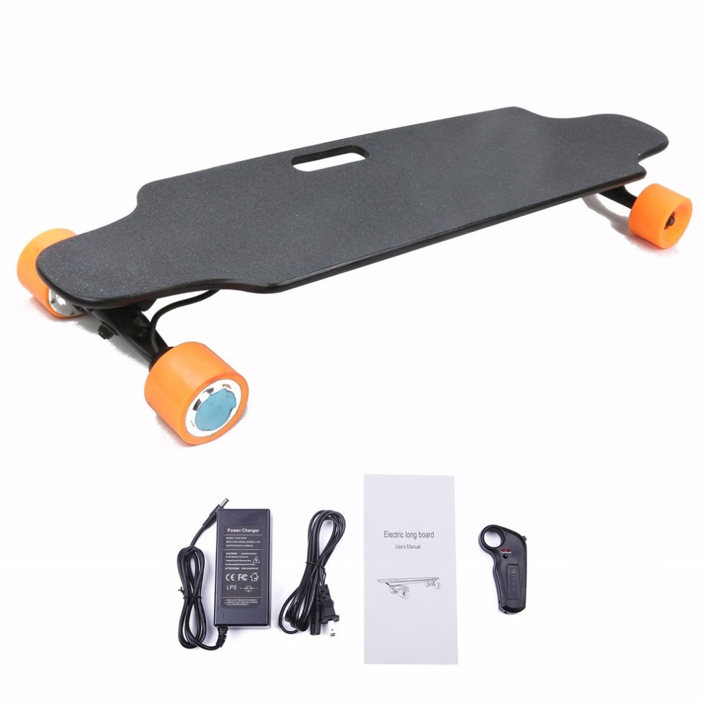 Outdoor Long Board 2.4G Frequency Wireless Skateboard With Remote Control Electric Slide Board Four Wheels Maple Wood Board NEW outdoor 2 4g frequency wireless remote control small fish board electric skateboard motorized hub adult scooter one motor