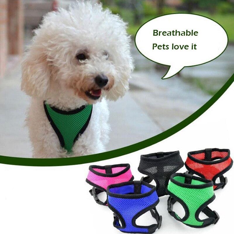 Huisdier Verstelbare Ademend Mesh Harnas Hond Nylon Vest Borst-band Puppy Halter Borstband Voor Kleine Medium Hond Tractie Supply
