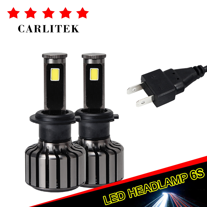 2Pcs H7 LED Lamps For Cars Auto Motocycle Headlight 6000K Super White 30W/bulb 5000lm Automobiles Driving Light Source