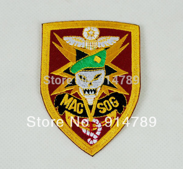 VIETNAM  V SOG STUDIES AND OBSERVATION GROUP EMBROIDERED PATCH -32001