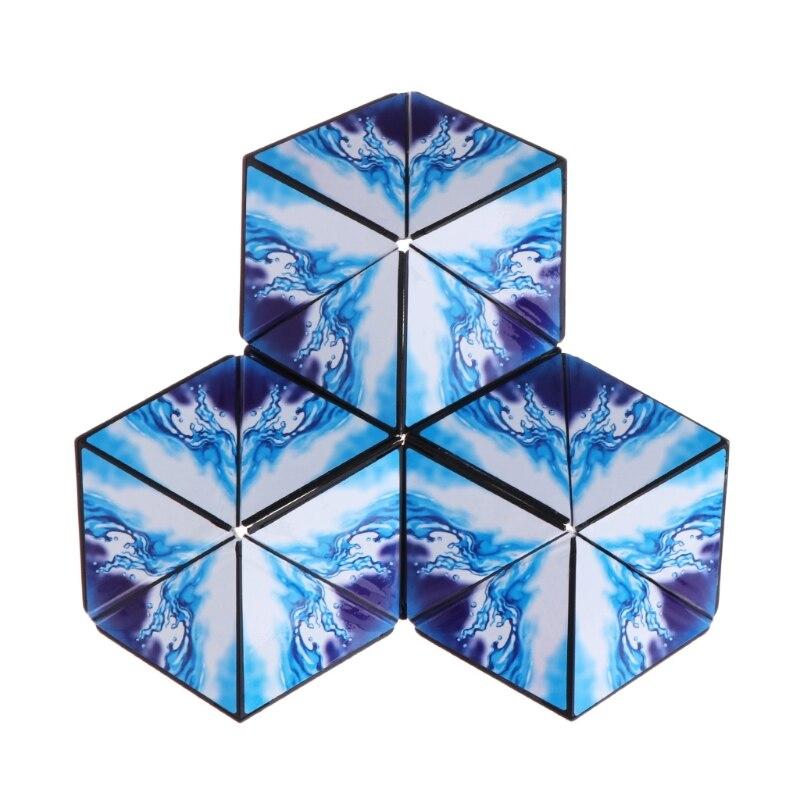 2018 Geometric Magic Cube Puzzle Magic Transforming Intelligence Educational Toys Oct23_C