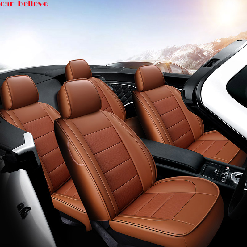 Car Believe Auto automobiles leather car seat cover For Skoda Rapid Fabia Superb Octavia a5 Yeti kodiaq car accessories styling