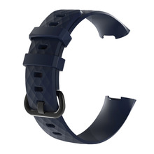 Replacement Wristband For Fitbit Charge 3/SE Silicone Strap 3D Diamond Textured Breathable Waterproof Bracelet 1EH