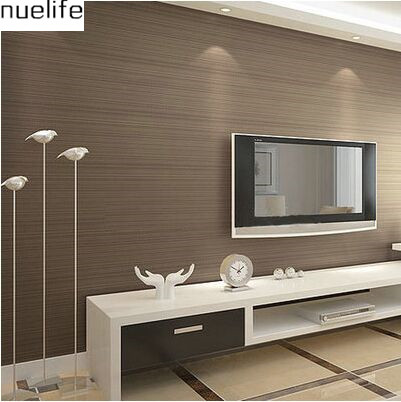 M simples e moderno marrom listras verticais papel for Braune tapete schlafzimmer