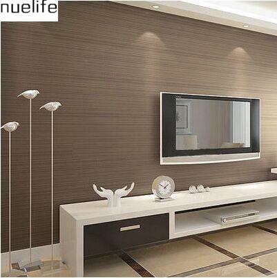053x10 mt moderne einfache braunen tapete vertikale streifen wohnzimmer schlafzimmer tv hintergrund tapete - Braune Tapete Wohnzimmer