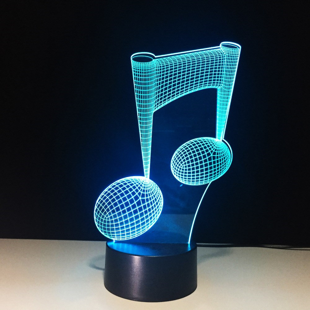 7 Color Changing LED USB 3D Music Notes Modelling Night Light Home Decoration Bedside Sleep Baby Desk Lamp For Music Lovers Gift