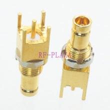 1pce Conector DIN 1.0/2.3 jack pin solda PCB mount Hetero