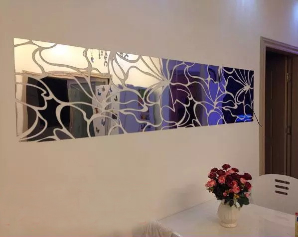 Abstract pattern 3d acrylic mirror surface wall stickers Entranceway ...