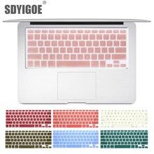 Клавиатура для ноутбука, чехол для macbook air 13 pro 15 дюймов A1466 A1502 A1278 A1398, Силиконовая накладка для клавиатуры, цветная защитная пленка