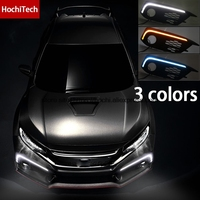 High Quality 3 Colors White Yellow Turn Signal Ice Blue LED Car DRL Daytime Running Lights
