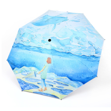 Uv Umbrella Rain Women Art Clear Men Gifts Corporate Parasol Cute Japanese Anime Painting Usefull El Principito Folding