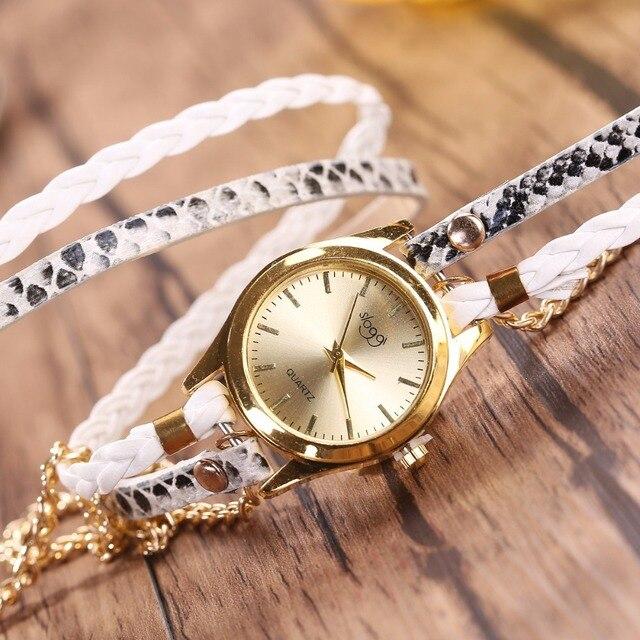 שעון קוורץ לאישה עם צמידים אופנתיים 4