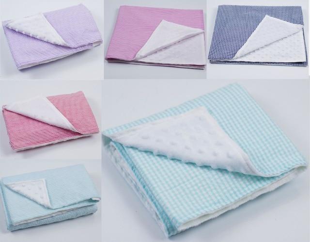 Новый горячий супер мягкие удобные новорожденных купания младенческой малыша девушки парни малыш seersucker трикотажные постельных принадлежностей minky детское одеяло