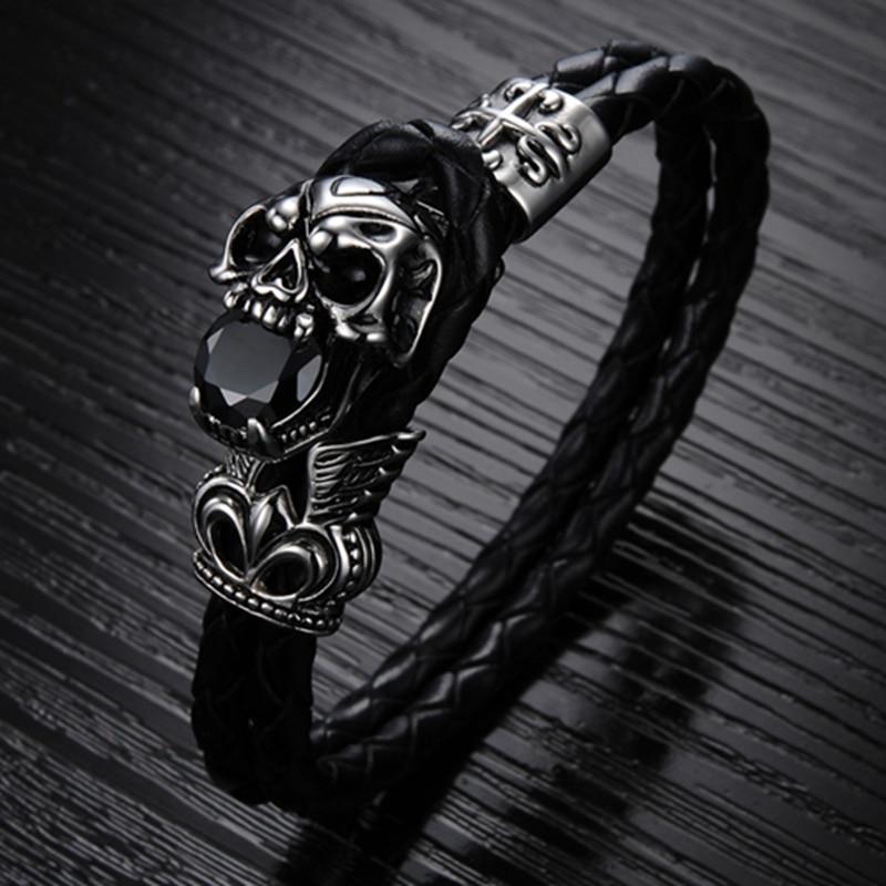 Wholesale Fashion Punk Jewelry Stainless Steel Skull Bracelets ...
