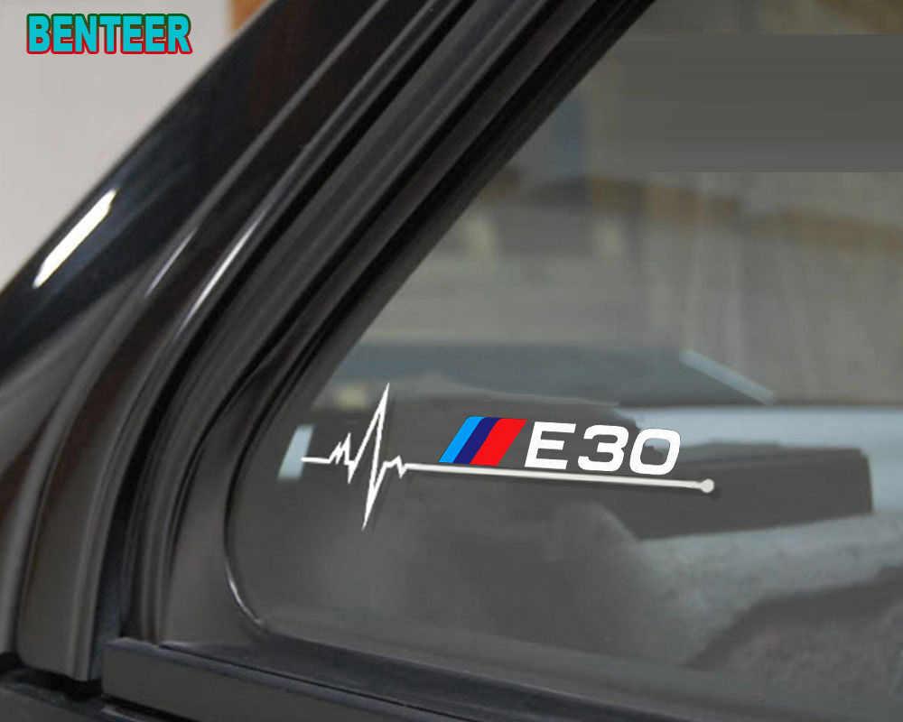 2 stücke E30 E34 E36 E39 E46 E60 E90 LOGO auto fenster aufkleber Für bmw 1 3 5 serie m3 m5 120i 130i 318i 320i 325i 520i 530i 528i