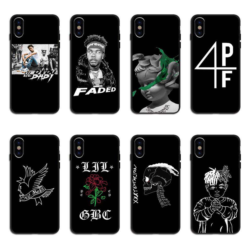 Hip hop Rapper xxxtentacion <font><b>Lil</b></font> <font><b>Peep</b></font> <font><b>Lil</b></font> Baby Back Cover Phone <font><b>Cases</b></font> For <font><b>iPhone</b></font> 11 Pro MAX 5 5s SE 6 6S Plus 7 8Plus X XR XS MAX image