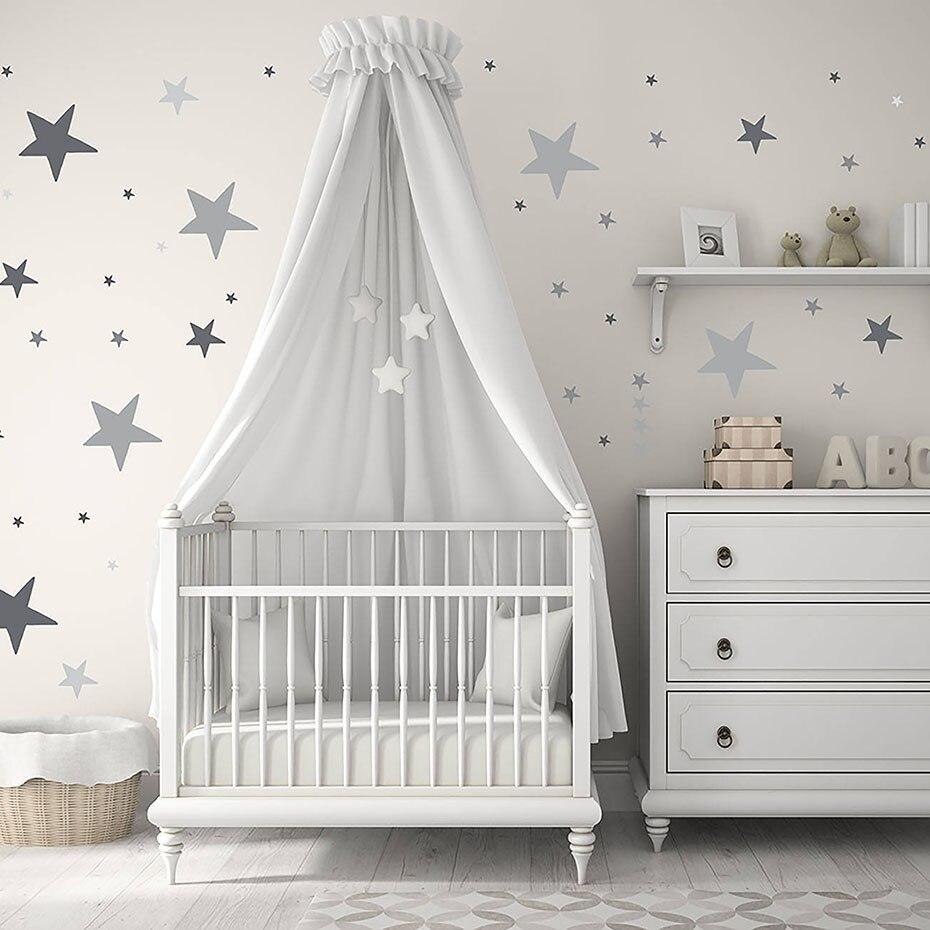 צבעוני כוכבים קיר מדבקה מודרנית יפה דקורטיבי לילדים משתלת שינה עמיד למים טפט אמנות תינוק מתנות
