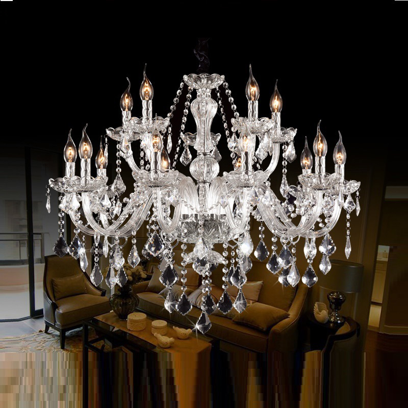 Modern Crystal Chandelier Living Room lustres de cristal Decoration Tiffany Pendants and Chandeliers Home Lighting Indoor Lamp modern new k9 modern crystal lustres de cristal decoration chandeliers and pendants silver gold 6 8 15 18 arms for living room