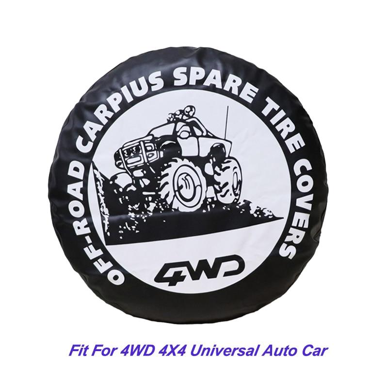 Bilhjulskydd 4WD 4X4 Universal Auto Car Styling Reservdäckskydd - Reservdelar och bildelar