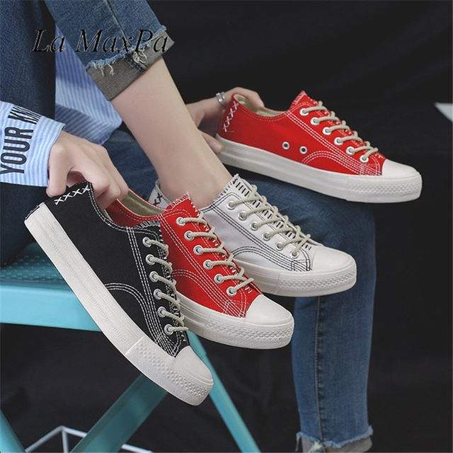ef379565db0 Fashion Women Sneakers Denim Casual Shoes Female Summer Canvas Shoes  Trainers Lace Up Ladies Basket Femme Stars Tenis Feminino