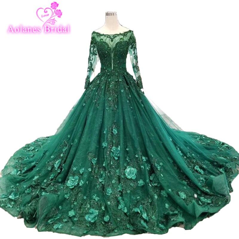 34a2023ab8 2019 Desamazing Omg Waves Long Evening Dress Ball Gown Emerald Green ...