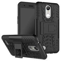 """Caixa Do Telefone móvel Para LG K10 2017 Caso Nova Marca 3D Kickstand Back Covers X400 M250 M250N Para LG LV5 5.3 """"escudo Capa de Smartphones"""