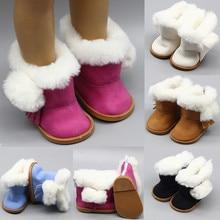 """43 ซม.ความสูงตุ๊กตาสาวหิมะรองเท้าบูทรองเท้าสำหรับ 18 """"ตุ๊กตาเด็กทารกตุ๊กตาฤดูหนาวคริสต์มาสรองเท้าตุ๊กตาอุปกรณ์เสริม"""